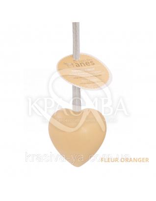 "Мыло на льняном шнурке в форме сердца Fleur Oranger ""Цветы цитрусовых"", 100 г"