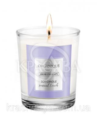 Свічка ароматерапевтична з соєвого воску Sensual Touch, 180 г : Арома свічки