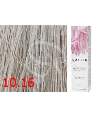 Cutrin Aurora Permanent Color - Аммиачная краска для волос 10.16 Перламутровый блондин, 60 мл