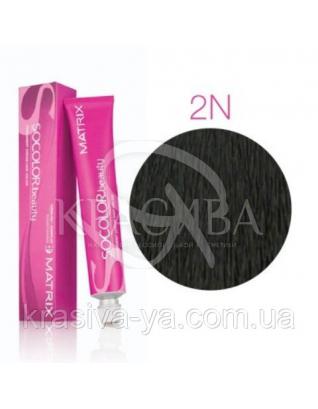 Соколор Бьюти, стойкая крем-краска для волос, оттенок 2 N, 90 мл : Аммиачная краска