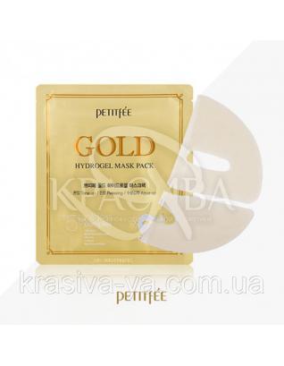 Гідрогелева маска для обличчя з золотомым комплексом+5 PETITFEE Gold Hydrogel Mask Pack+5golden complex,2штх32г : PETITFEE