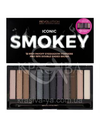 MUR Redemption - Палетка з 12 відтінків тіней (Iconic Smokey), 13 р : Makeup Revolution