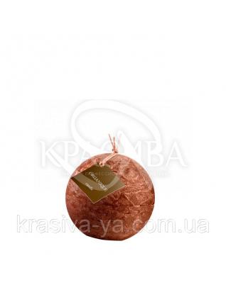 Свеча ароматерапевтическая маленький шар d 80 - Корица (Коричневый), 230 г