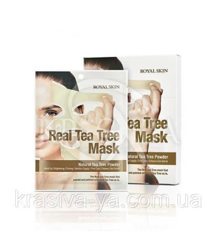 Маска для обличчя з Чайним деревом Royal Skin Real Tea Tree Mask, 2 шт - 1