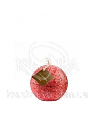Свеча ароматерапевтическая маленький шар d 80 - Смородина  (Красный), 230 г