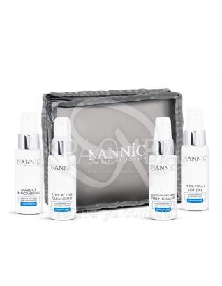 Nannic Cleansing Travel Kit Дорожній набір Nannic з очисними засобами для обличчя, 4*50 мл