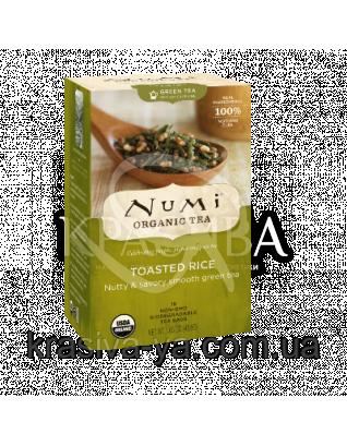 """NUMI Зеленый чай с рисом """" Генмайча """" / Toasted Rice Green, 18 пакетиков : Органический чай"""