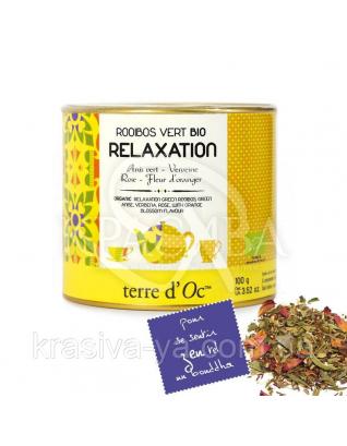 TdO Органический Зеленый ройбуш для релаксации (зеленый анис, вербена, роза), 100 г : Органический чай