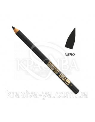 Олівець для очей Kajal Satin Pencil Black, 1.5 м : Layla