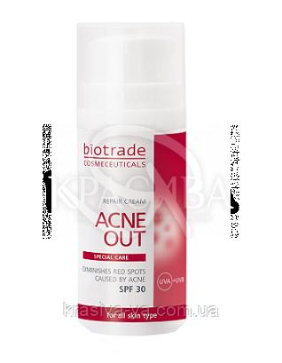 Acne Out Восстанавливающий крем SPF30, 30 мл : Biotrade