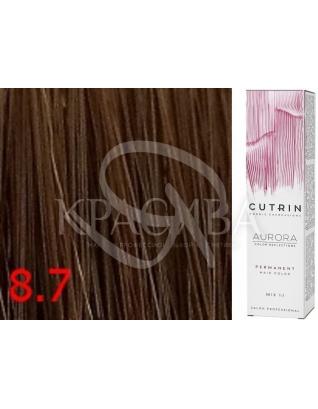 Cutrin Aurora Permanent Color - Аммиачная краска для волос 8.7 Кофе с молоком, 60 мл