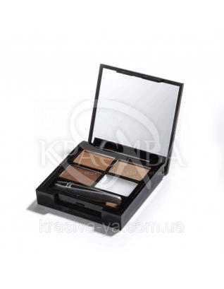 MUR Focus & Fix Eyebrow - Набор для моделирования бровей (Medium-Dark), 5.8 г : Makeup Revolution