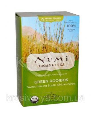 """NUMI Травяной тизан """" Зеленый Ройбуш """" / Green Rooibos, 18 пакетиков : Травяной чай"""