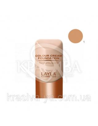 Тональная основа для лица Colour Cream Foundation 01, 30 мл