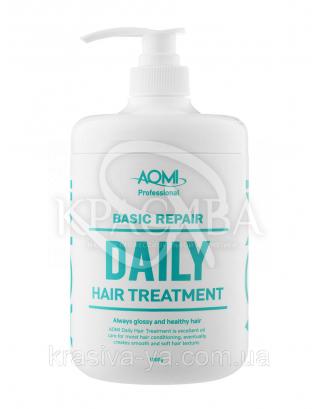 Маска для волос с экстрактом зеленого чая и Алоэ Basic Repair Daily Treatment, 1000 мл