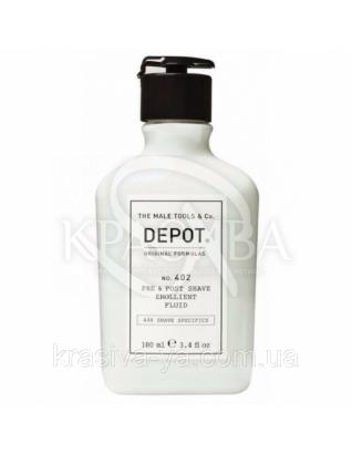 402 Смягчающая жидкость до и после бритья, 100 мл : Depot