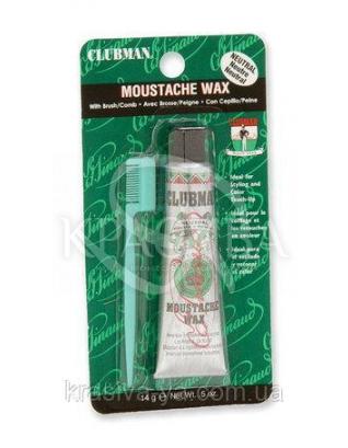 Воск для усов Clubman нейтральный, 14 г : Мужские средства для бритья