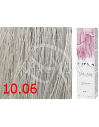 Cutrin Aurora Permanent Color - Аммиачная краска для волос 10.06 Ледяной блондин, 60 мл
