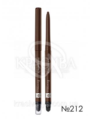 RM Exaggerate Waterproof Eye Definer - Карандаш для глаз (212-Rich Brown / темно коричневый), 0,28 г : Контурный карандаш