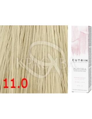 Cutrin Aurora Permanent Color - Аммиачная краска для волос 11.0 Чистый натуральный блондин, 60 мл