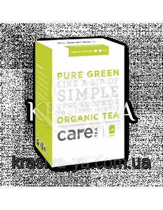 Care Pure Green - Зелений чай пакети, 18 шт : Care Tea