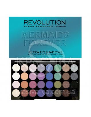 MUR Ultra 32 Shade - Палетка з 32 відтінків тіней (Mermaids Forever), 20 г : Makeup Revolution
