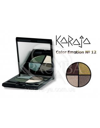 Karaja Тіні для повік кватро Color Emotion 12, 6 р