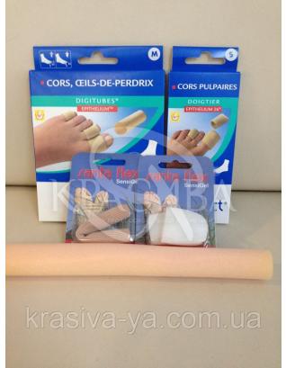 Трубочки от натираний и мозолей на пальцах (S, M, L) 3 шт * 10 см : Ортопедические изделия