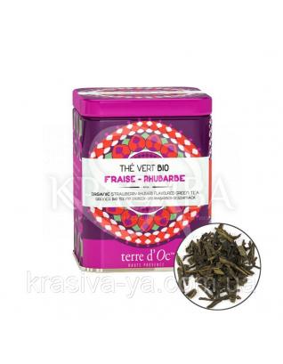 TdO Органический зеленый чай со вкусом клубники и ревеня/Organic Strawberry-Rhubarb Flavoured, 50 г : Органический чай