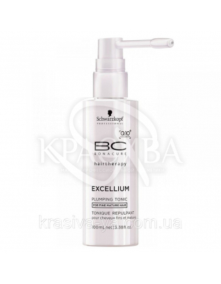 BC Excellium Q10 + Collagen Plumping Tonic - Уплотняющий тоник для волос и кожи головы Q10+Omega 3, 100 мл : Лосьон для волос