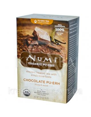 """NUMI Черный чай """" Шоколад пуэр """" / Chocolate Pu-erh, 16 пакетиков : Органический чай"""