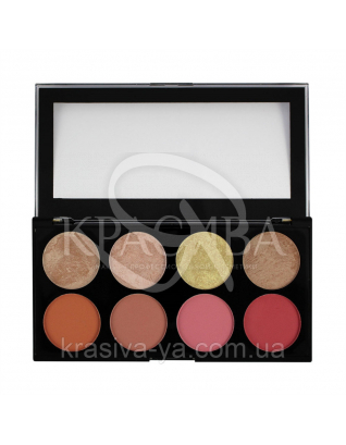 MUR Ultra Blush Palette - Палетка из 8 оттенков румян (Blush Goddess), 13 г : Палетки