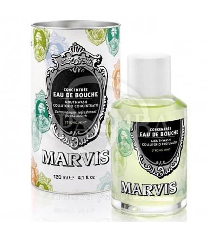 Ополіскувач для порожнини рота Інтенсивна м'ята Marvis Mouthwash Strong Mint, 120 мл - 1