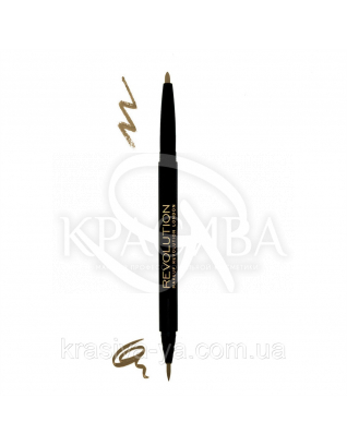 MUR Dual Brow - Двойной карандаш и лайнер для бровей моделирующий (Fair), 0.9*0.15 г : Makeup Revolution