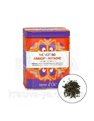 TdO Органический зеленый чай со вкусом абрикоса и фисташек / Organic Apricot-Pistachio Flavoured, 100 г : Органический чай