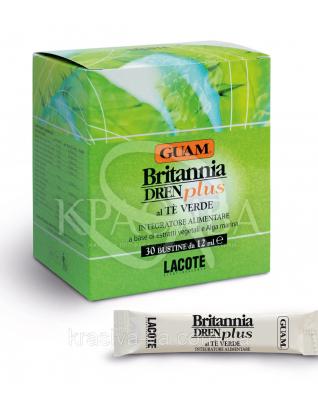 Пищевой комплексный продукт Britannia Dren Plus с дренажным эффектом со вкусом зеленого чая, 30шт. 12 мл : Диетические и пищевые добавки