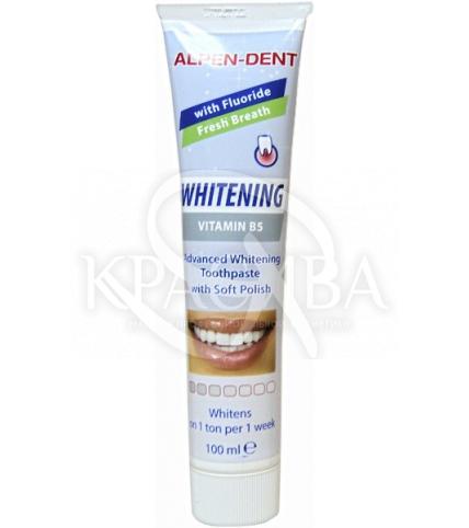 Альпен Дент Паста зубная отбеливающая с витамином В 5, 100 мл - 1