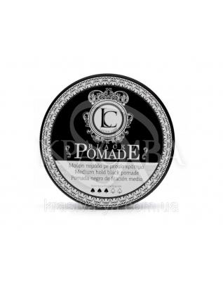 Black Pomade Medium Hold Чорна помада для стайлінгу волосся, 100 мл :