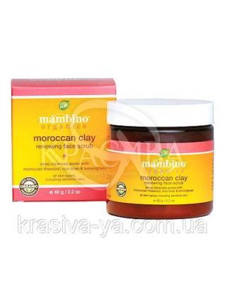 MAM Скраб для особи відновлюючий на основі Марокканської глини/Moroccan Clay Renewing Face, 60 г : Mambino Organics