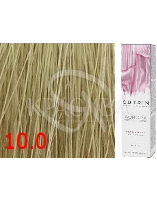 Cutrin Aurora Permanent Color - Аммиачная краска для волос 10.0 Природный блондин, 60 мл