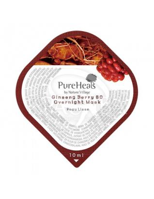 Маска нічна енергізіруюча з екстрактом ягід женьшеню : PureHeal's