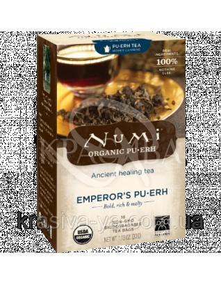 """NUMI Черный чай """" Пуэр Императора """" / Emperor's Pu-erh, 16 пакетиков : Органический чай"""