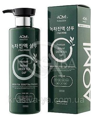 Шампунь для волос Green Tea Scalp Sap Shampoo, 500 мл : Aomi