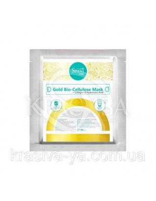 Коллагеновая маска с гиалуроновой кислотой и ДМАЕ Gold Bio-Cellulose, 1 шт