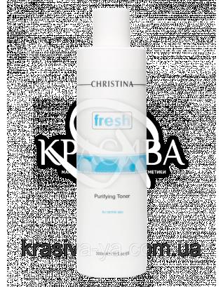Очищуючий тонік для нормальної шкіри з Геранню Fresh Purifying Toner normal skin with Geranium, 300 мл : Christina