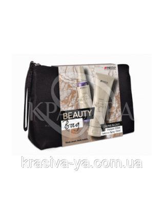 Набор Innova Divine Blond - Шампунь для светлых волос 250 мл+ Нейтрализатор спрей-кондиционе 150 мл+Косметичка : Beauty-боксы для волос