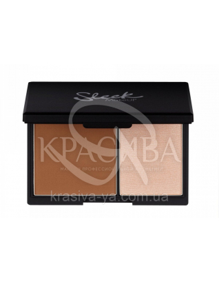 Sleek Contour Light Kit - Матова пудра і хайлайтер для обличчя, 14 г : Sleek make up