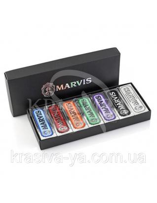 Коробка з 7 видами різних паст Marvis 7 Flavours Box, 7*25 мл
