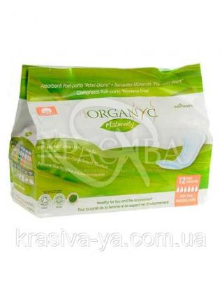 CR Органические гигиенические прокладки послеродовые, органический хлопок, 12 шт : Средства гигиены