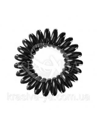 Резинка для волос черная, 3шт : Заколки и резинки